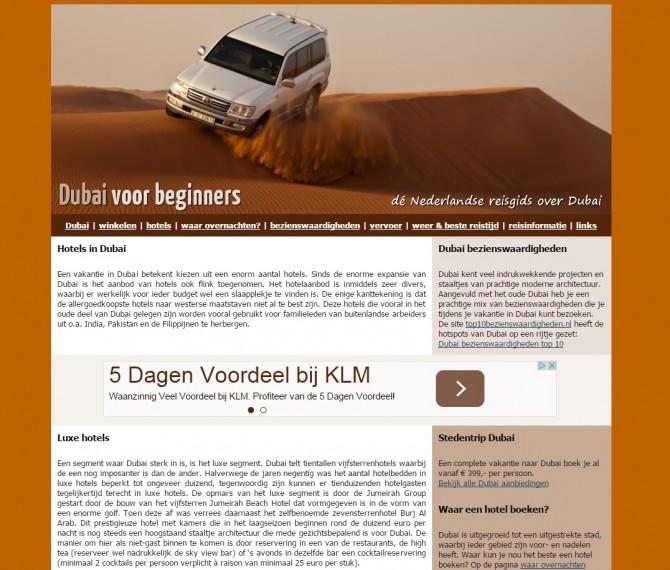 Dubai voor beginners