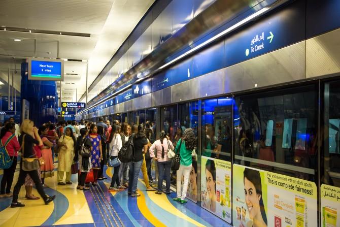 Boete voor mannen in vrouwencoupé Dubai metro