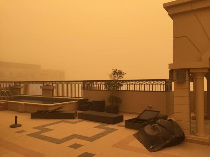 Zandstorm teistert Dubai