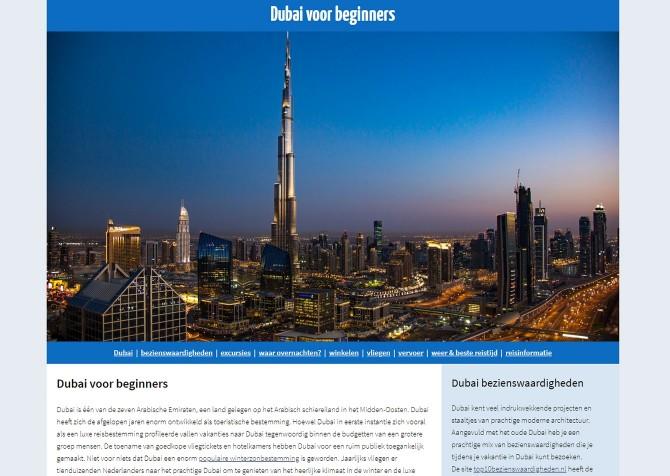 Dubai voor beginners in een nieuw jasje